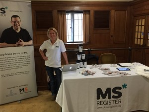 Katie at the UK MS Register table